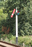 Railway Train Signal. Stock Image