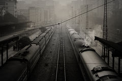 Railway Train Station_2 Royalty Free Stock Photos