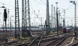Railway train station Stock Photography