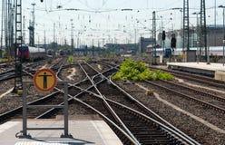 Railway train station Royalty Free Stock Photo