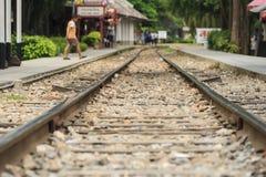 Railway. Train tracks, Railroad tracks Royalty Free Stock Images