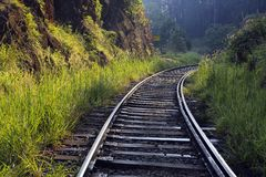 Railway train tracks Royalty Free Stock Photos