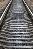 Railway for the train, view of the railway track.  Stock Image