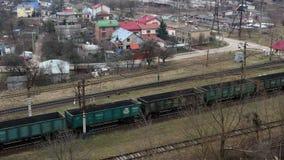 Railway train wagon railroad. 4k stock video