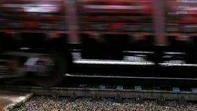 Railway train wagon railroad. 4k stock video footage