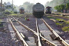Railway and trains Stock Photo