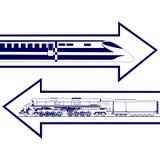 Railway transport Stock Images