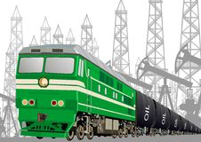 Railway transport of petroleum products Royalty Free Stock Images