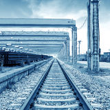 Railway transport terminals Stock Images