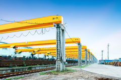 Railway transport terminals Stock Photography