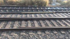 Railway travel background stock footage