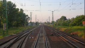 Railway travel view stock video footage