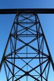 Railway Trestle. Low angle shot of huge railway trestle pylon Stock Image