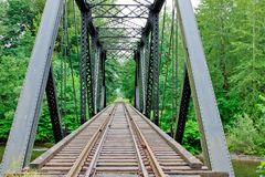 Railway Trestle Bridge Royalty Free Stock Photos