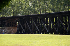 Railway Trestle in Harpers Ferry Virginia USA Stock Images