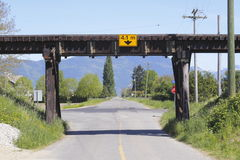 Railway Trestle over Road Royalty Free Stock Image