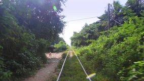 Railway trip in Cambodia stock footage