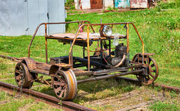 Railway trolley to broad gauge Royalty Free Stock Images
