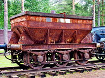 Railway truck. Old rusty railway truck used to transport ore from the mine to the steelworks in the north of Sweden Royalty Free Stock Image