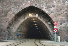 Railway & tunnel Royalty Free Stock Image