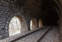 Railway tunnel Royalty Free Stock Photo