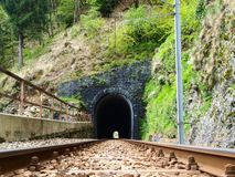 The railway tunnel Royalty Free Stock Photography