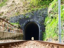 The railway tunnel Stock Images