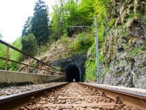 The railway tunnel Royalty Free Stock Image