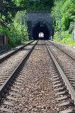 Railway tunnel entry Royalty Free Stock Photos