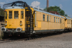 Railway,Tunnel measuring carriage stock photos