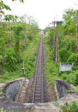 Railway tunnel in Thailand Stock Photo