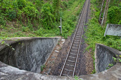 Railway tunnel in Thailand Royalty Free Stock Photo