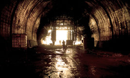 Tunnel under construction Royalty Free Stock Photos