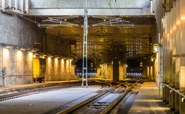 Railway tunnel under Malmo city Royalty Free Stock Images