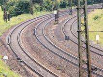 Railway turn Stock Photo