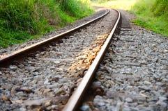 Railway through a Valley Royalty Free Stock Photos