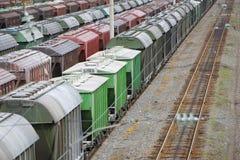Railway vans Stock Photo