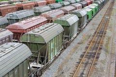 Railway vans Stock Photography