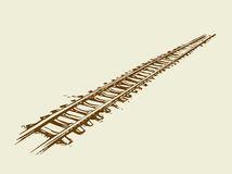 Railway. Vector drawing Stock Photography