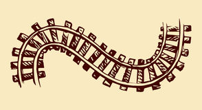 Railway. Vector drawing Stock Images