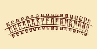Railway. Vector drawing Stock Image