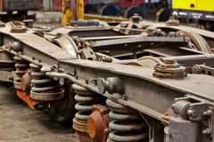 Railway vehicle parts Stock Photography