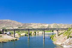 Railway viaduct. In Pocinho, Douro Valley, Portugal Royalty Free Stock Photos