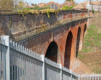 Railway viaduct bridge arches. Photo of blacksole railway viaduct bridge in herne bay showing victorian arches architecture Stock Photos