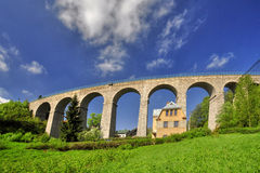 Railway viaduct Stock Image