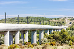 Railway viaduct, France Royalty Free Stock Images