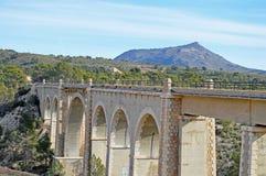 A Railway Viaduct - Train Tracks Bridge Bungee Jumping Stock Image