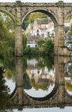 Railway Viaduct, Knaresborough, Yorkshire UK Royalty Free Stock Image