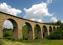 Railway viaduct, 1896 Stock Images