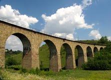 Railway viaduct, 1896. Railway viaduct near Terebovlya, Ukraine. Build in  1896 Stock Images